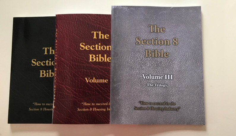 All three volumes of Section 8 Bible